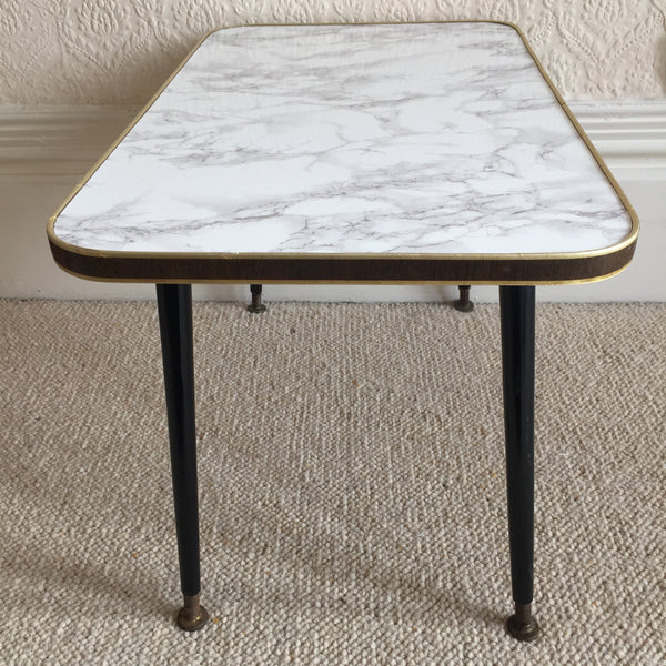 64 cm Marble Effect Vintage Coffee Table 1950s - Table Basse Vintage 64cm Effet Marbre - Free delivery UK France