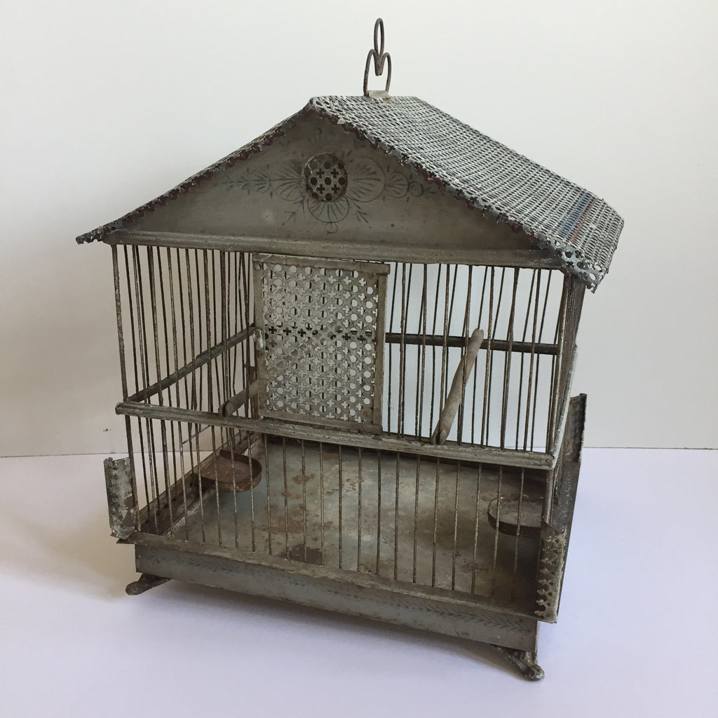 french antique shabby chic bird cage ancienne cage a oiseaux free la petite brocante. Black Bedroom Furniture Sets. Home Design Ideas