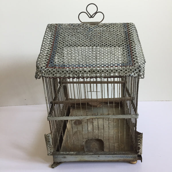 French Antique Shabby Chic  Bird Cage - Ancienne Cage a Oiseaux - Free Delivery UK-Livraison Gratuite France