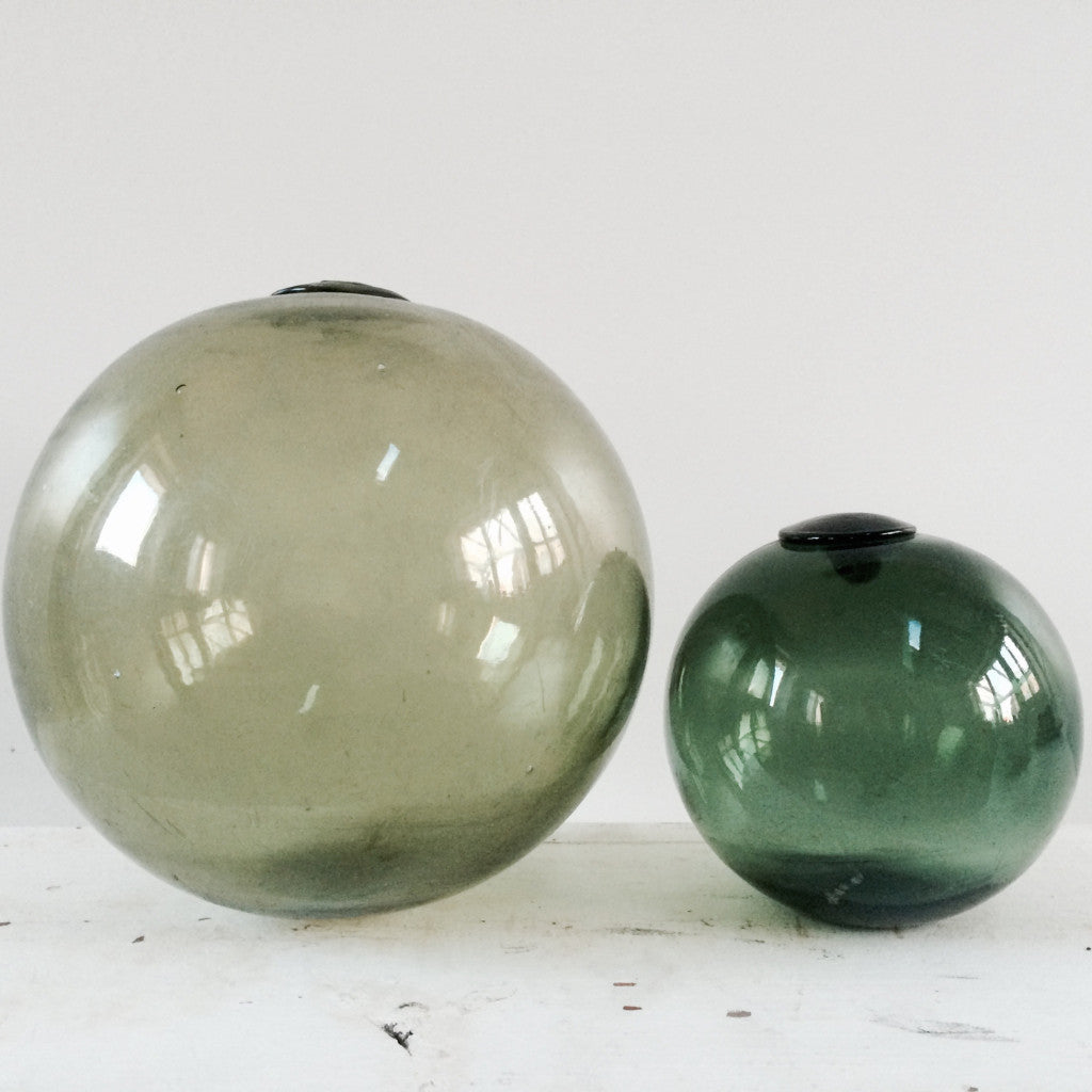 1950s Green Glass Floats