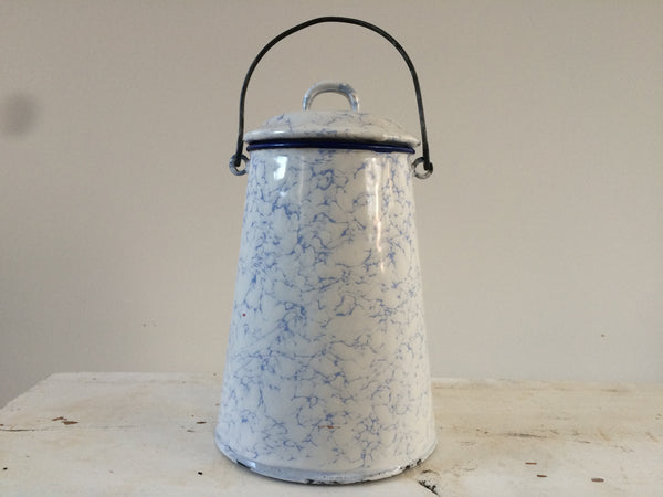 Vintage French Enamel Pot -Pot Emaillé - Free delivery UK - Livraison Gratuite France