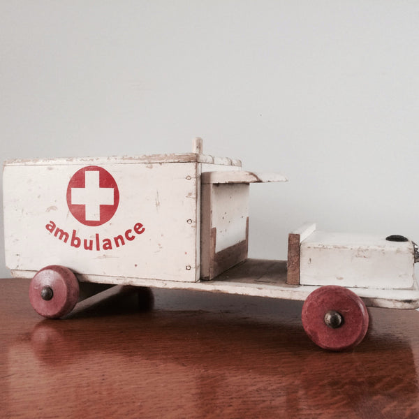 Vintage Ambulance Toy 1950s
