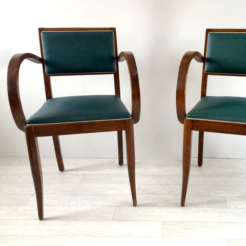Vintage French Pair of Bridge Chairs