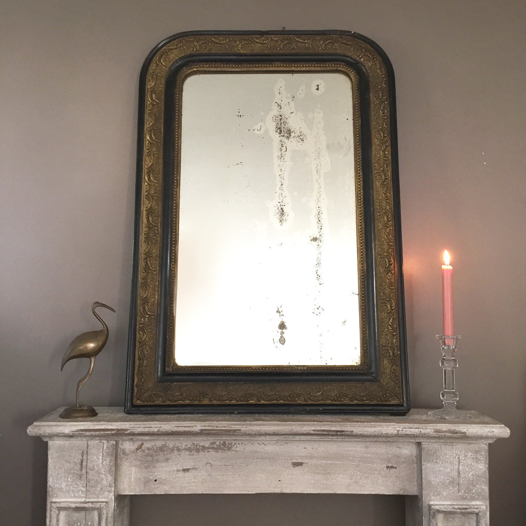 antique french shabby chic louis philippe mirror miroir ancien louis la petite brocante. Black Bedroom Furniture Sets. Home Design Ideas