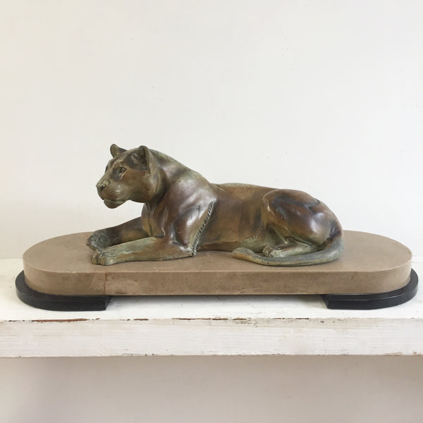 French Art Deco Lioness Sculpture - Sculpture Lionne Art Deco- Free Delivery UK-Livraison Gratuite France