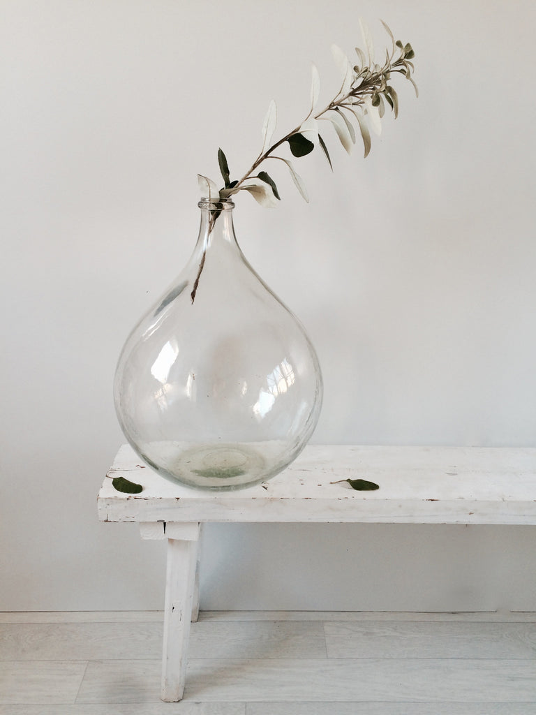 Dame Jeanne Demi John Vintage Glass Bottle Vase Clear 20L – La ...