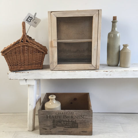 Shop the Look: Panier a Myrtilles Berries Basket, Pantry Garde-Manger, Caisse à Vin French Wine Box