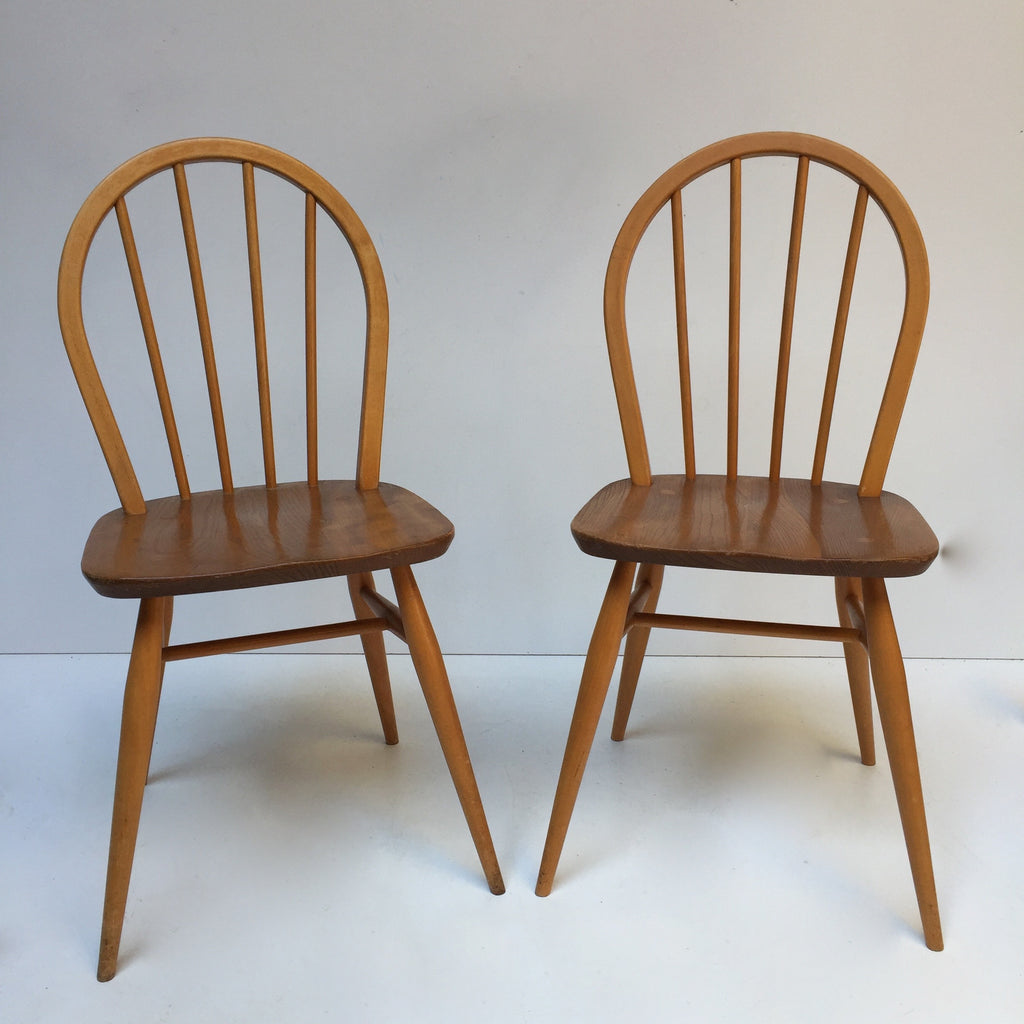 Pair of Vintage Ercol Chairs - Paire de Chaises Ercol Vintage - free delivery UK- livraison gratuite France