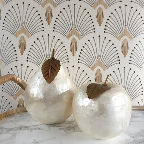 Mother of Pearl Effect Pear and Apple - Pomme et Poire Effet Nacre- Free delivery UK - Livraison gratuite France