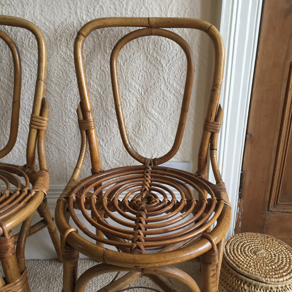 Vintage Wicker Chair 1950- Chaise Vintage Rotin 1950- Free Delivery UK - Livraison Gratuite France