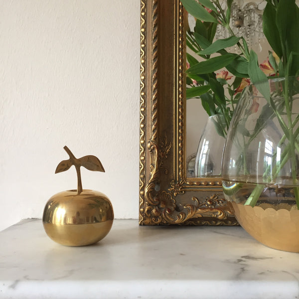 Vintage Retro Brass Apple - Pomme Laiton Vintage - Free delivery UK France
