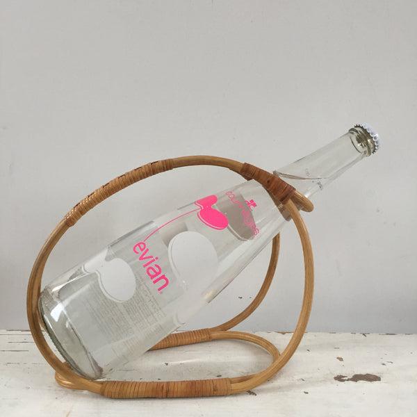 A French Vintage Wicker Bottle Holder - Porte Bouteilles Rotin Vintage - Free delivery, livraison gratuite