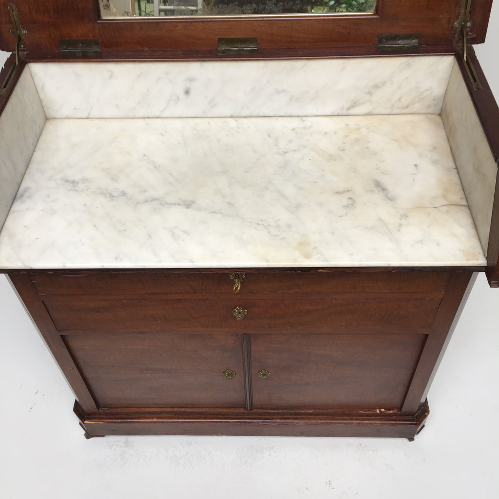 french marble top dresser - free delivery uk - meuble de toilette