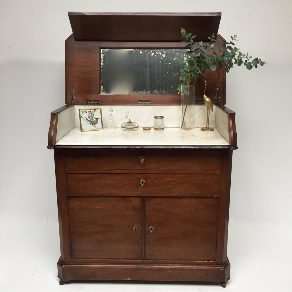 French Marble Top Dresser - Free delivery UK - Meuble de toilette 1900  - Livraison Gratuite France