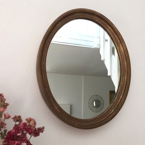 Antique French Shabby Chic Gold Gilded Mirror - Miroir Doré Ancien - Free delivery UK - Livraison gratuite France