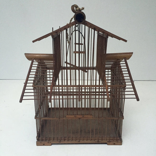 Vintage French Shabby Chic Bird Cage - Cage a Oiseaux Vintage - Free Delivery UK-Livraison Gratuite France