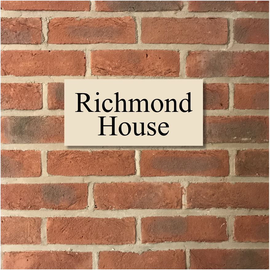 "12""x6"" = (30cm x 15cm) Natural Stone House Sign Stone House Sign www.HouseSign.co.uk"