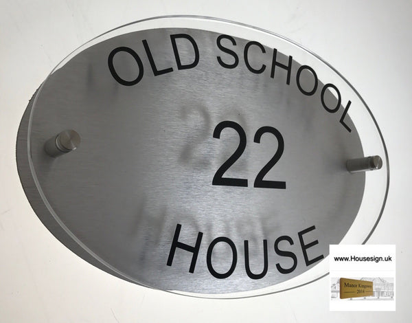"12""x7"" Acrylic Oval Acrylic House Signs www.HouseSign.co.uk"