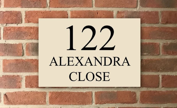 "12""x8"" = (30cm x 20cm) Natural Stone House Sign Stone House Sign www.HouseSign.co.uk"