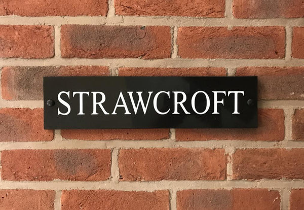 "16""x4"" = (40cm x 10cm) Natural Granite House Sign Granite House Signs www.HouseSign.co.uk"