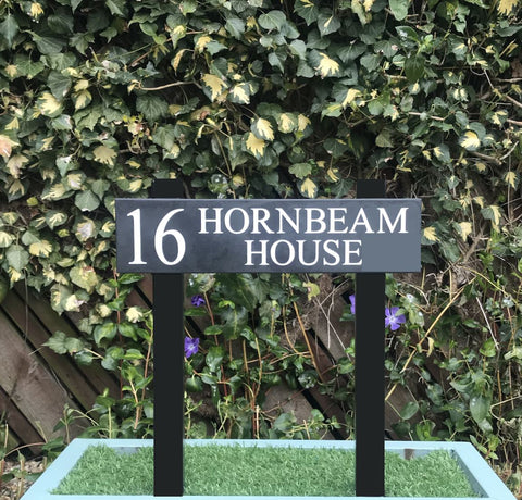 "16""x4"" Steel Legged Post Sign Post Sign www.HouseSign.co.uk"