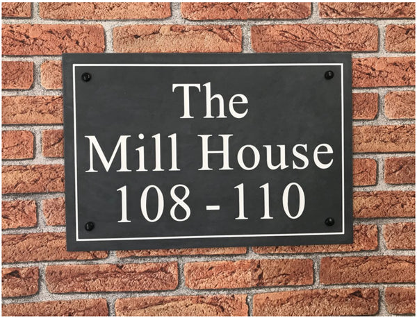 "18""x12"" = (45cm x 30cm) Natural Slate Sign Slate House Sign www.HouseSign.co.uk"