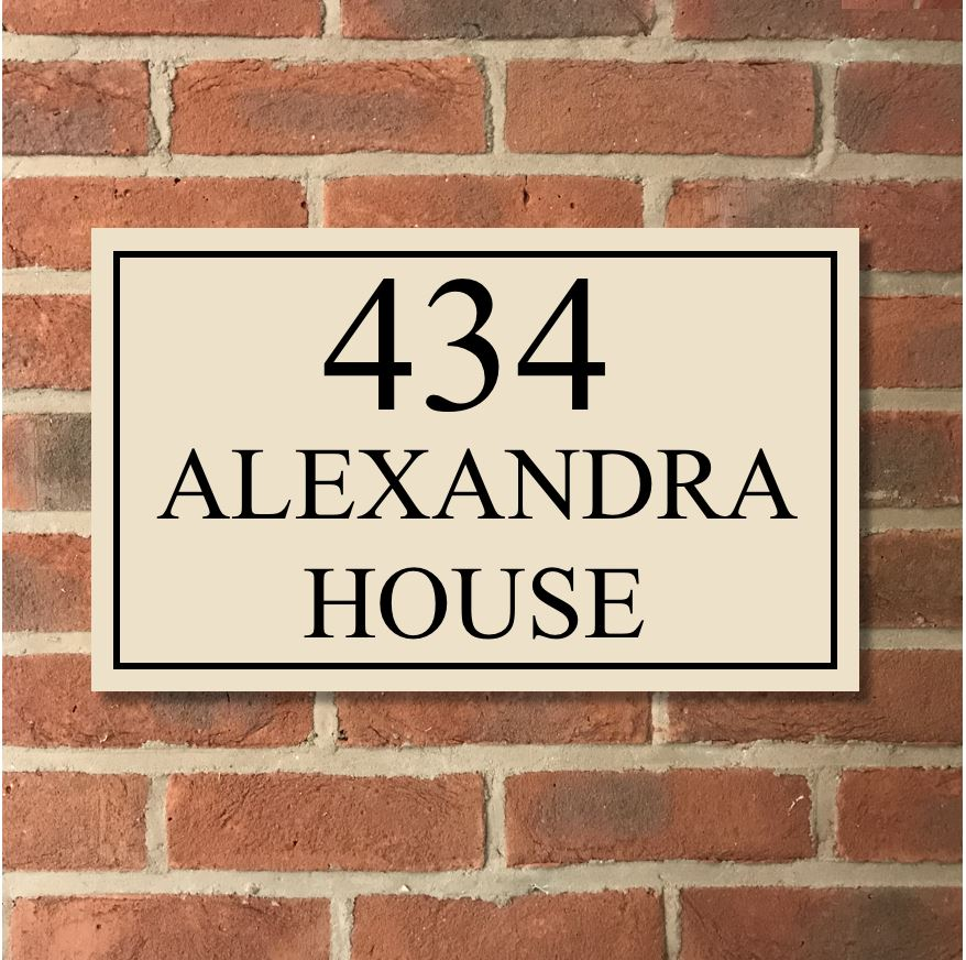 "18""x12"" = (45cm x 30cm) Natural Stone House Sign Stone House Sign www.HouseSign.co.uk"