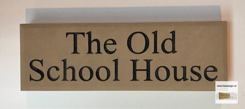 "18""x6"" = (45cm x 15cm) Natural Stone Build in The Wall Sign Build in The Wall Sign www.HouseSign.uk"