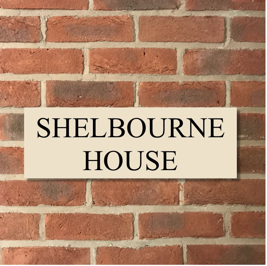 "18""x6"" = (45cm x 15cm) Natural Stone House Sign Stone House Sign www.HouseSign.co.uk"