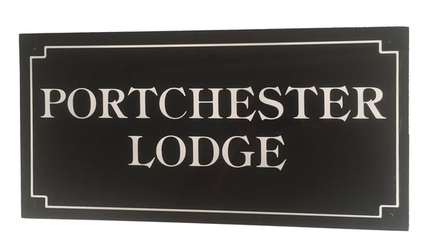 "24""x12"" = (60cm x 30cm) Natural Granite House Sign Granite House Signs www.HouseSign.co.uk"