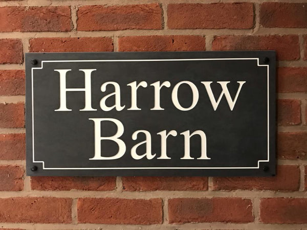 "24""x12"" (60cm x 30cm)Natural Slate House Sign Slate Sign www.HouseSign.co.uk"