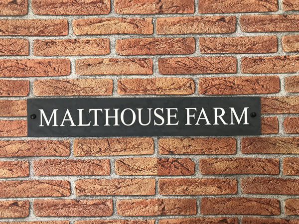 "24""x4"" (60cm x 10cm)Natural Slate House Sign Slate Sign www.HouseSign.co.uk"