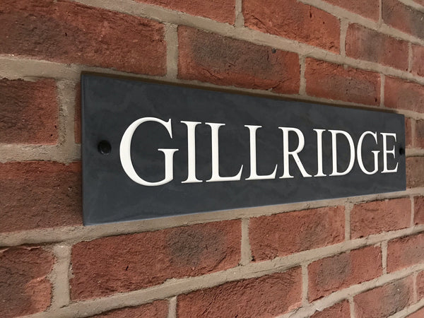 "24""x6"" (60cm x 15cm)Natural Slate House Sign Slate Sign www.HouseSign.co.uk"