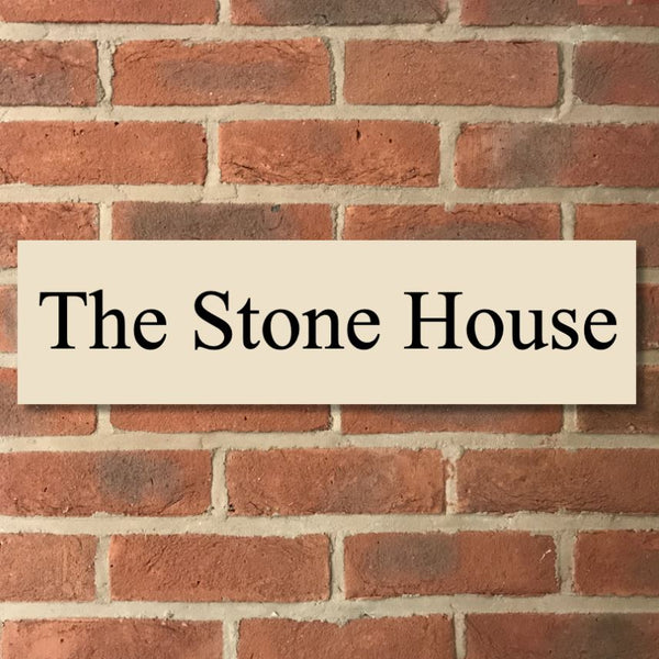 "24""x6"" = (60cm x 30cm) Natural Stone House Sign Stone House Sign www.HouseSign.co.uk"