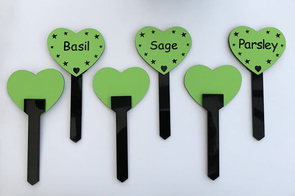 6 x Herb Markers Label Tag Pointed Stakes Plant Gift, Garden Bush, Gifts www.HouseSign.co.uk