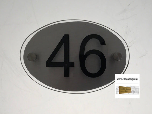 "6""x4""Acrylic Oval Acrylic House Signs www.HouseSign.co.uk"