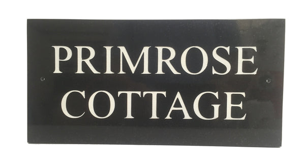 "12""x6"" = (30cm x 15cm) Natural Granite House Sign"