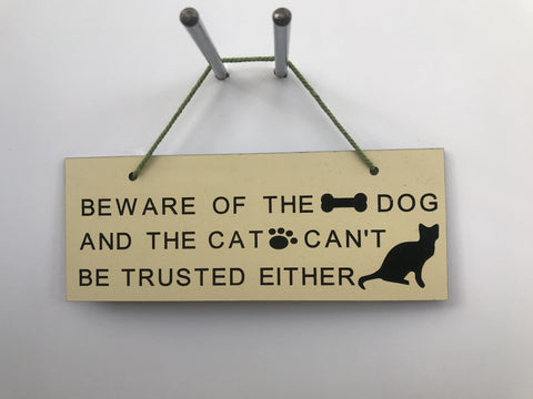 Beware of the dog Gifts www.HouseSign.uk