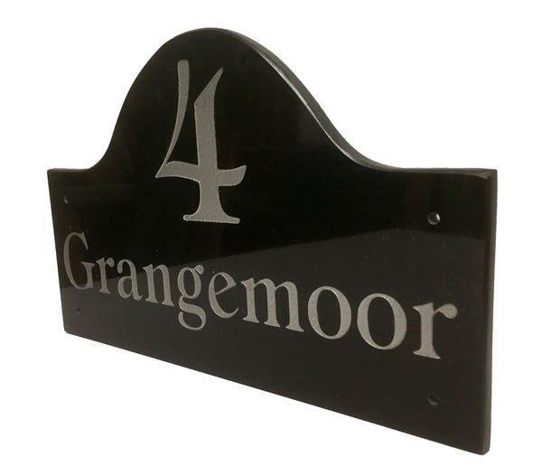"Bridge Shaped Sign 12""x7"" = (30cm x 18cm) Bridge Shape Sign www.HouseSign.uk"