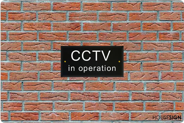 CCTV Sign Gate Signs www.HouseSign.uk