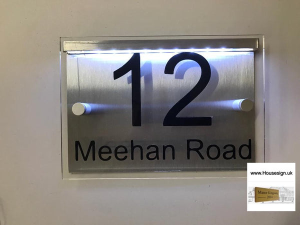 Mains powered LED Acrylic House Sign 20cmx14cm
