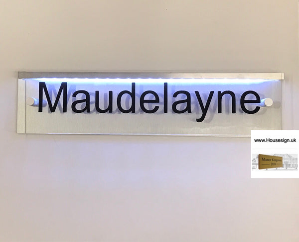 "Mains powered LED Acrylic House Sign 16""x4"""