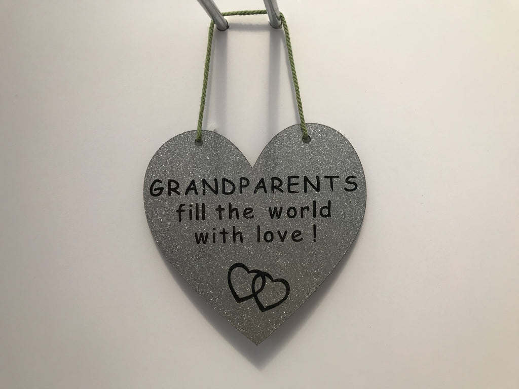 GRANDPARENTS fill the world with love Gifts www.HouseSign.co.uk