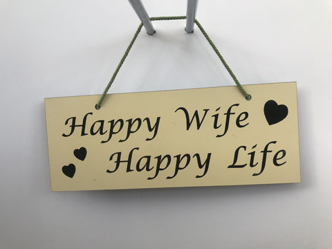 Happy wife happy life Gifts www.HouseSign.co.uk