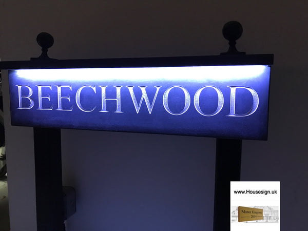 "Solar Powered Post Sign 24"" X 6"""