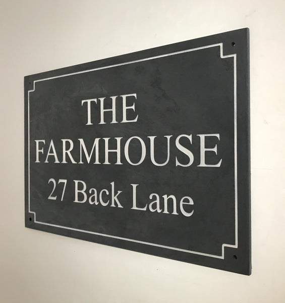 "18""x12"" = (45cm x 30cm) Natural Slate Sign"
