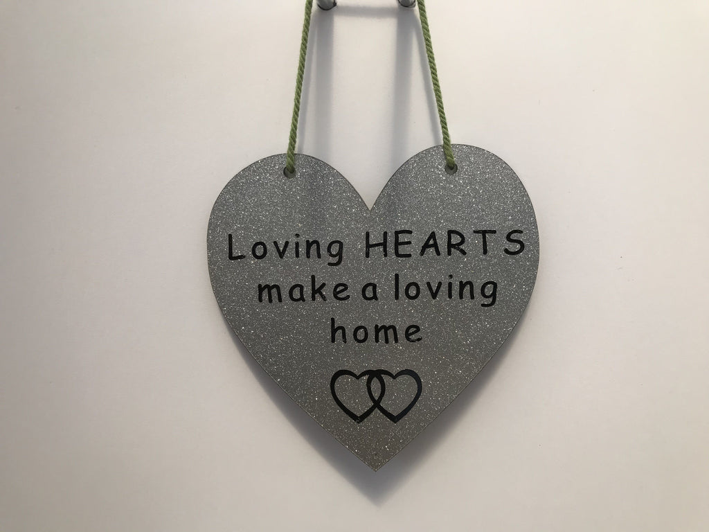 Loving HEARTS make a loving home Gifts www.HouseSign.co.uk