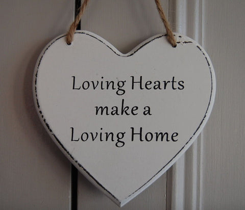 Loving Hearts make a Loving Home Gifts www.HouseSign.uk