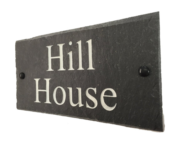 Rustic Slate Sign Rustic Slate Signs www.HouseSign.uk