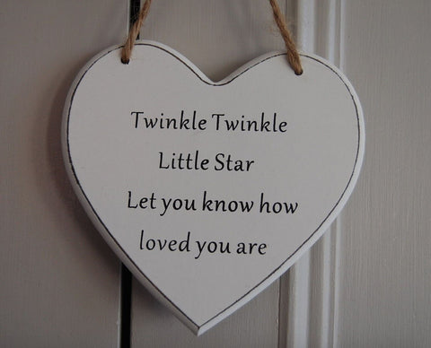 Twinkle Twinkle Little Star Let you know how loved you are Gifts www.HouseSign.uk
